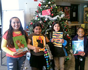 Kids with benefit from the Share Literacy Holiday Program with Hoopoe books