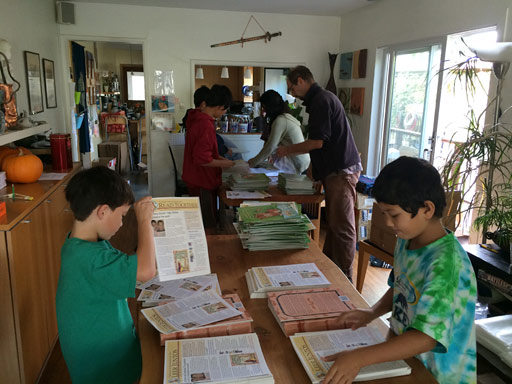 Kids packaging home literacy kits