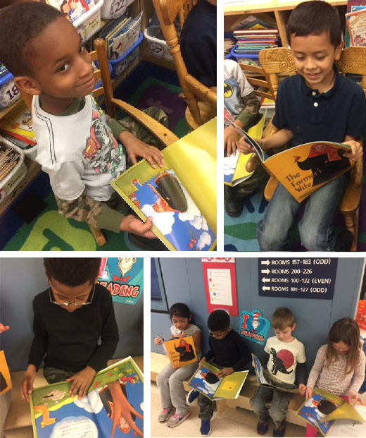 Kids at Montgomery Knolls with Hoopoe books